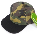 INFANT Baby Blank Snapback Hats & Caps Wholesale  - Green camo Black