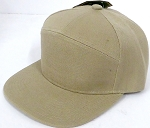 Blank 7 Panel  Hats/Caps Wholesale -   Khaki