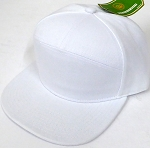Blank 7 Panel  Hats/Caps Wholesale -  White
