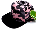 INFANT Baby Blank Snapback Hats & Caps Wholesale -  Pink  Camo  Black