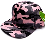 INFANT Baby Blank Snapback Hats & Caps Wholesale - Solid Pink  Camo