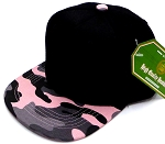 INFANT Baby Blank Snapback Hats & Caps Wholesale - Black Pink  Camo