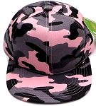 KIDS Junior Wholesale Blank Snapback Hats  -      Pink Camo