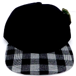 KIDS Jr. Snapback Hats Wholesale Plaid   Black  Grey