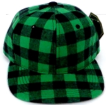KIDS Jr. Snapback Hats Wholesale Plaid   Green