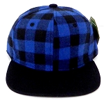 KIDS Jr. Snapback Hats Wholesale Plaid   Royal Black