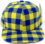 KIDS Jr. Snapback Hats Wholesale Plaid   Gold