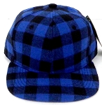 KIDS Jr. Snapback Hats Wholesale Plaid   Royal