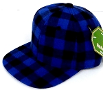 INFANT Snapback Hats Wholesale  Plaid - Blue