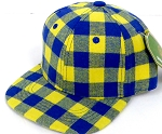 INFANT Snapback Hats Wholesale  Plaid - Gold