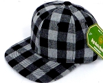 INFANT Snapback Hats Wholesale Grey Plaid - Grey