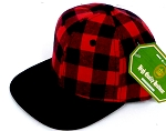 INFANT Snapback Hats Wholesale Red Plaid - Red  black
