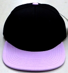 KIDS Junior Wholesale Blank Snapback Hats  -  Black  Lavender