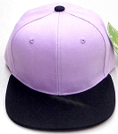 KIDS Junior Wholesale Blank Snapback Hats  -  Lavender Black
