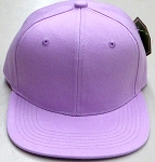 KIDS Junior Wholesale Blank Snapback Hats  -    Lavender