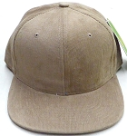 Wholesale Corduroy Blank Snapback Caps - Solid -  TAN