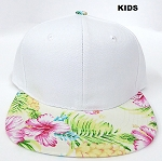 KIDS JUNIOR Bulk Blank Snapback Caps - White | Beige