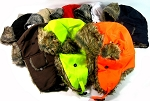 Trooper Bomber Faux Fur Winter Hats Wholesale - Solid Colors