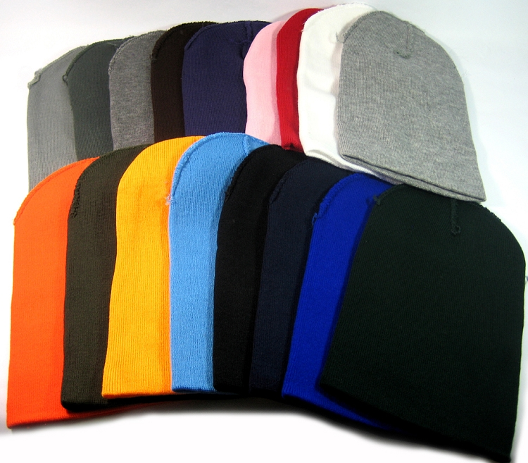 f9c264e95a8 Cuff Long Beanies Wholesale Winter Hats Wholesale - All Colors - Acrylic Beanie  Bulk