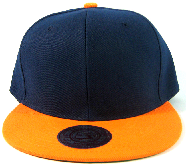 f9e3417d2af ... new style wholesale blank snapbacks retro two tone navy orange plain  hats caps aff5f 720ca ...