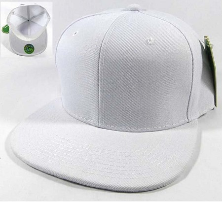 Blank Snapback Hats & Caps Wholesale - White | White Brim