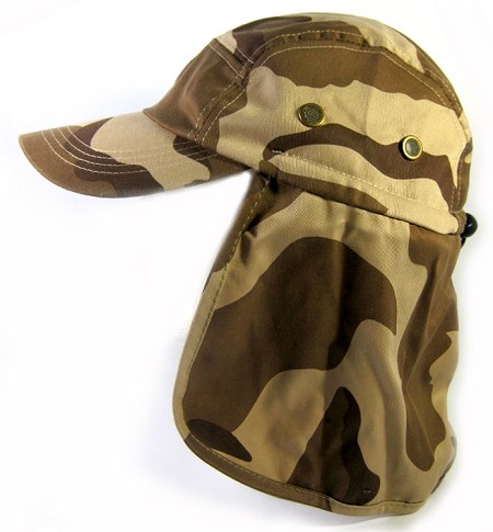 Ear Flap Baseball Cap Style Sun Protection Hats Wholesale - Desert Camouflage
