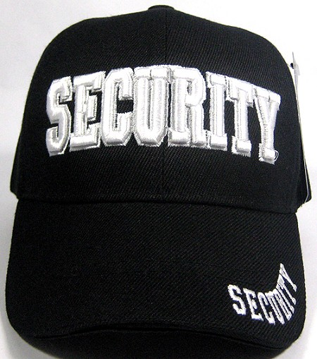 SECURITY Caps Hats Wholesale Law   Order Hats - Security Logo Solid Black  Hats 7ca5eaa4c2d