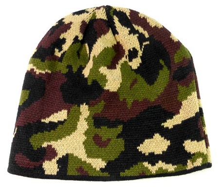 Wholesale Winter Short Beanies Hats - Camouflage Alt