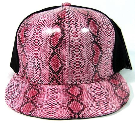 8944b22b07d Wholesale blank snakeskin snapback hats animal print black caps