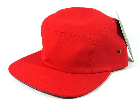 Blank 5 Panel Camp Hats/Caps Wholesale - Red