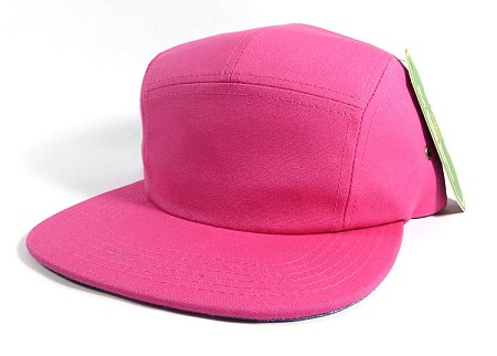 Blank 5-Panel Camp Hats Caps Wholesale - Hot Pink