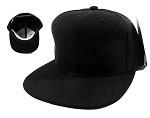 Blank Black Snapback Caps Hats Wholesale - Black Under Bill