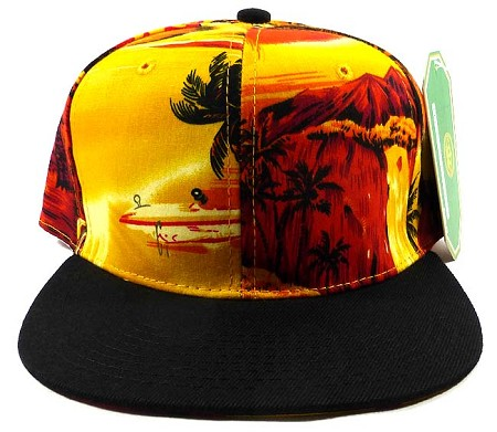 Blank Snapback Hats Caps Wholesale - Hawaiian Beach
