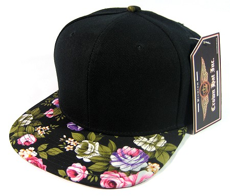 Wholesale FLORAL Snapback Hats Blank Plain Caps Green Bulk ed743edf8403