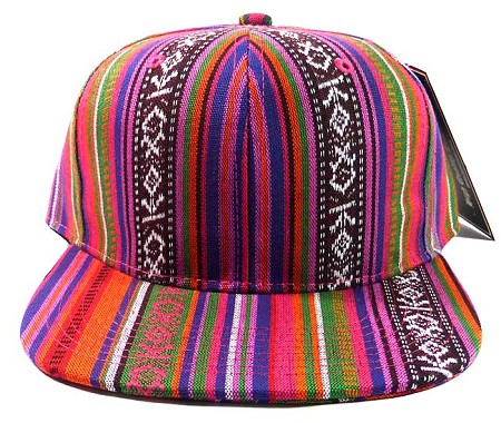 Wholesale Blank Aztec Snapback Hats - Multicolored Pattern - Quilt