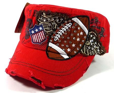 748fc87a0570 thumbnail.asp file assets images 010262011stonesmilitary 0212 rhinestone  caps wholesale14 bling football cadet hats wholesale  red12.jpg maxx 450 maxy 0
