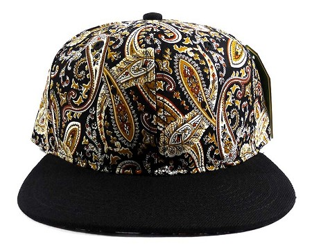 Wholesale Blank Paisley Snapback Hats Caps 22