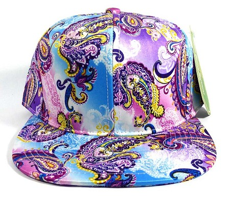 Wholesale Plain Paisley Snapback Hats Caps 9