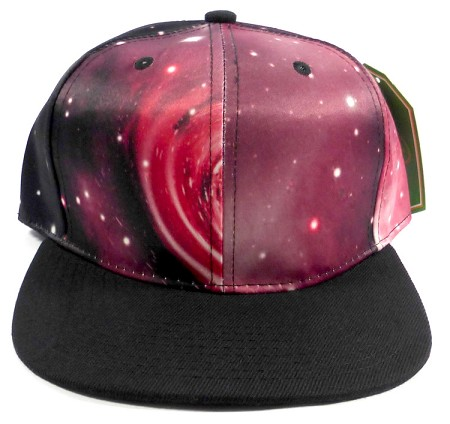 Wholesale Blank Snapback Hats - Galaxy Print | Red 2