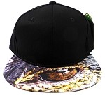 6-Panel Blank Strapback Hats Caps Wholesale - Crocodile Eyes