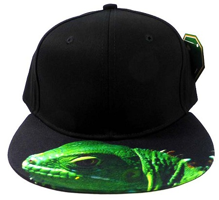 6-Panel Blank Strapback Hats Caps Wholesale - Iguana