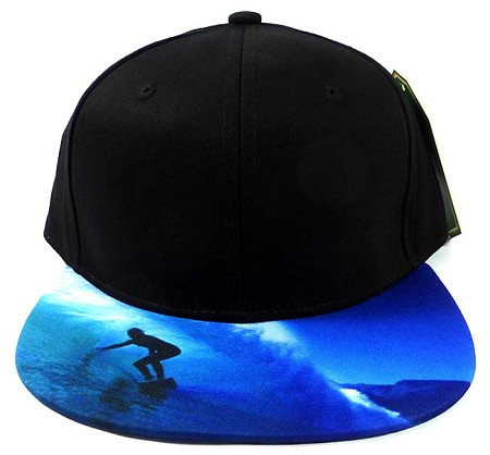 6-Panel Blank Strapback Hats Caps Wholesale - Surfer