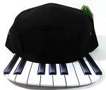 STRAPBACK 5-Panel Blank Camp Hats Caps Wholesale - Piano / KEYBOARD
