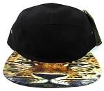 STRAPBACK 5-Panel Blank Camp Hats Caps Wholesale - Leopard