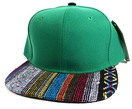 Wholesale Aztec Native Blank Snapbacks Caps - Green