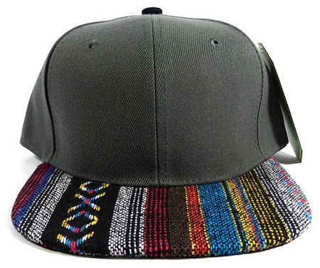 Wholesale Aztec Native Blank Snapbacks Caps - Dark Grey