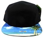 STRAPBACK 5-Panel Blank Camp Hats Caps Wholesale - Beach Scene