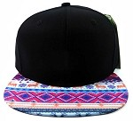 6-Panel Blank Strapback Hats Caps Wholesale - Aztec