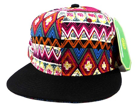 Aztec Snapback Caps Hats Wholesale - Red Pattern