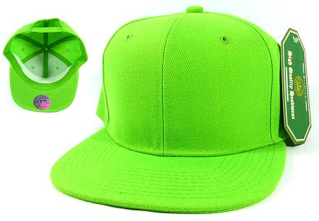 Blank Snapback Hats Caps Wholesale - Lime Green